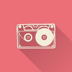 Cassette icon illustration, music pattern