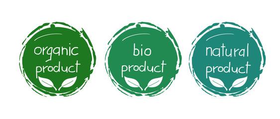 Fototapeta Bio natur Produkt icon obraz
