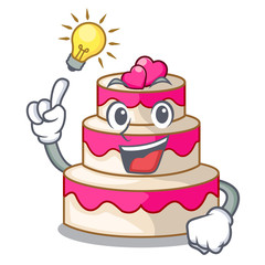 Have an idea wedding cake isolated with the mascot