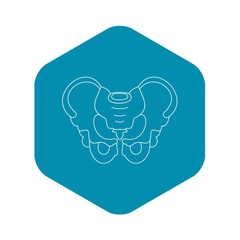Pelvis icon. Outline illustration of pelvis vector icon for web
