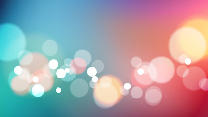 Abstract bokeh light on colors background