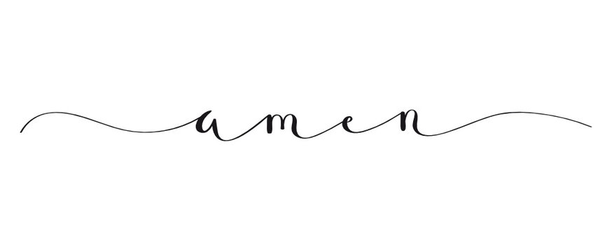AMEN brush calligraphy banner