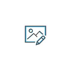 Image icon design. Interaction icon line vector illustration