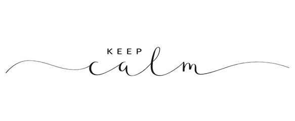 KEEP CALM brush calligraphy banner