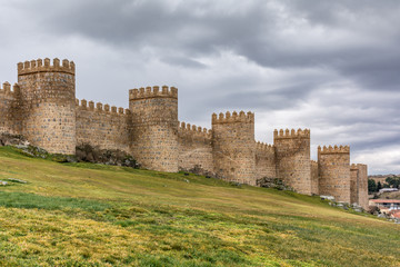 Avila (Castile and Leon, Spain): the famous medieval walls that surround the city. UNESCO World Heritage Site Wall mural