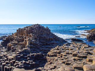 Felsenformation am Giant´s Causeway in Nordirland