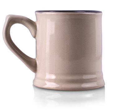 The empty  mug isolated on white background