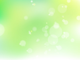 Image of fresh green and light Background material