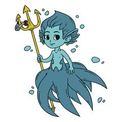 Male mermaid.