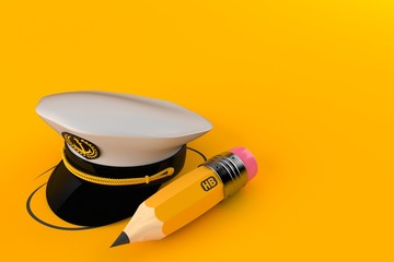 Captain's hat with pencil