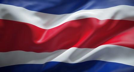 Bandera oficial de la República de Costa Rica.
