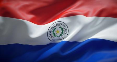 Bandera oficial de la República del Paraguay