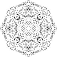 Flower Mandala. Oriental pattern. Vector illustration. Vintage decorative elements.