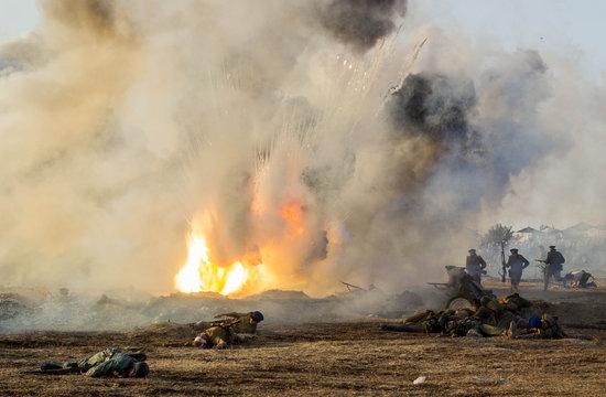 Military-historical festival in Crimea. Battle for Sevastopol (1944)