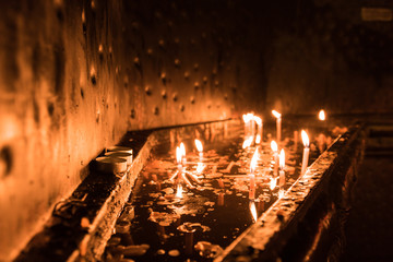 Candles in orthodox cathedral