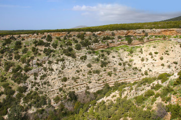 A view from the mountain into the Avakas Gorge (Akamas Peninsula) - Cyprus