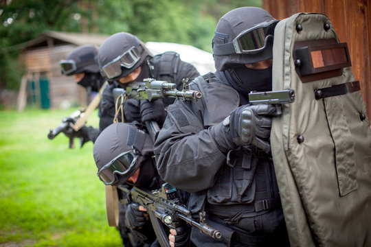 Special force unit in action