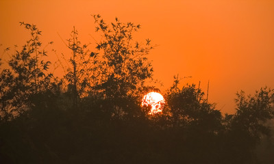 Keuken foto achterwand Rood Sunset nature hd background photo.Summer vacation and nature travel concept.