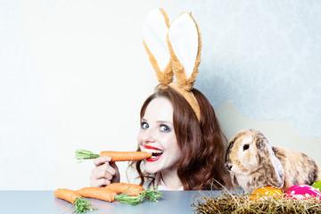 osterhase frau bunny