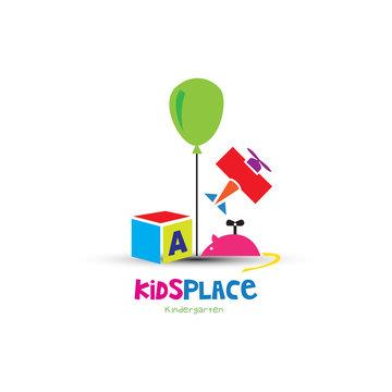 Colorful toys kids logo