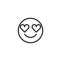 Emoji icon. Social media sign
