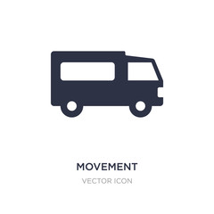 movement icon on white background. Simple element illustration from Transport concept.