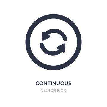 continuous icon on white background. Simple element illustration from UI concept.