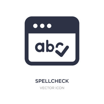 spellcheck icon on white background. Simple element illustration from UI concept.