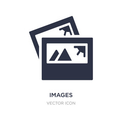 images icon on white background. Simple element illustration from UI concept.