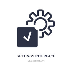 settings interface icon on white background. Simple element illustration from UI concept.