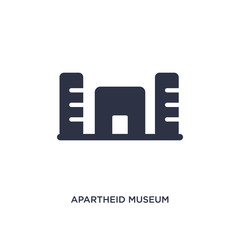 apartheid museum icon on white background. Simple element illustration from africa concept.