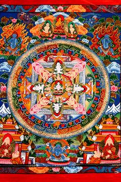Tanka. Paint of Nepal. Year 2005