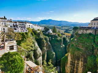 panoramic view of the ancient town of ronda Andalusia, Spain