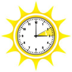 Sommerzeit Sonne Ziffern