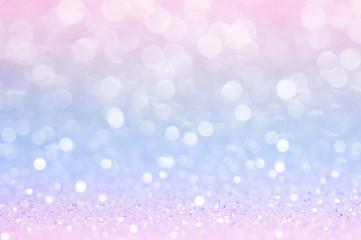Pink blue, pink bokeh,circle abstract light background,Pink Gold shining lights, sparkling...