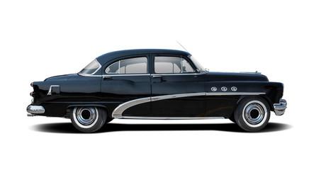 Fototapeta Classic American car isolated on white obraz
