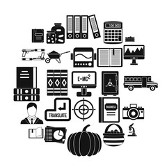 Skills icons set. Simple set of 25 skills vector icons for web isolated on white background