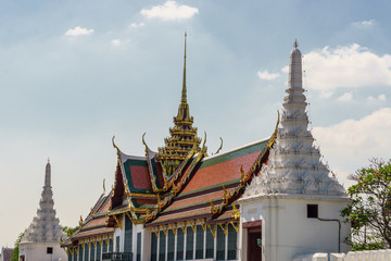 Grand Palace outdoors view in Bangkok, Thailand. General travel imagery