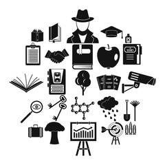 University education icons set. Simple set of 25 university education vector icons for web isolated on white background