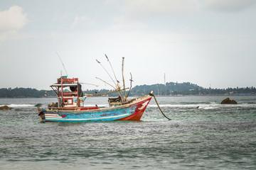 Asia Boat in the ocean