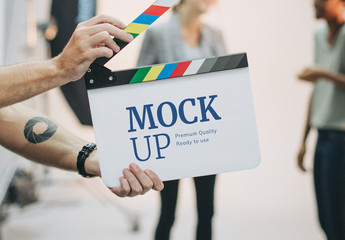 Movie Set Clap Board Mockup