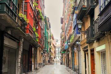old town of Bilbao, Spain