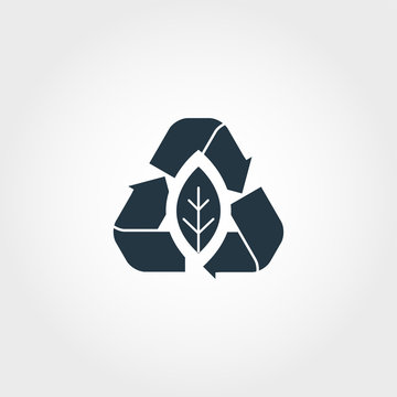 Zero Emission creative icon. Monochrome style design from urbanism icons collection. Zero Emission icon for web design, apps, software, print usage