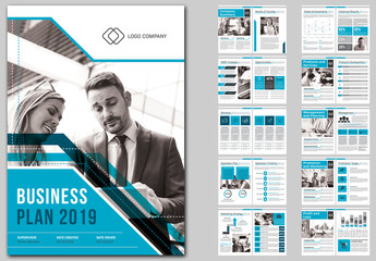Business Plan Template Stock Graphic Design And Motion