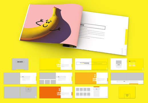 Landscape Portfolio Layout with Bright Colors