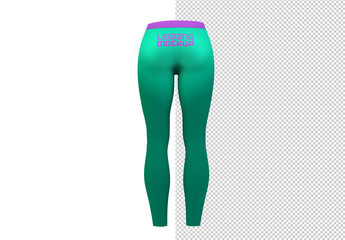 Back of Leggings Mockup