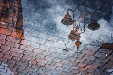 Tile and rain.