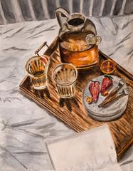 Illustration of breakfast