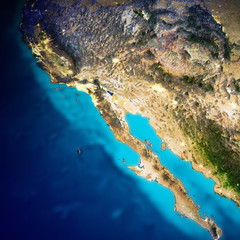 Fototapete - California and Pacific Mexico coast