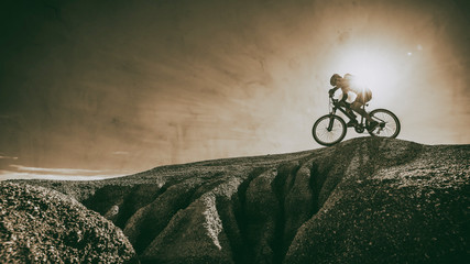 mountain bike cyclist Wall mural